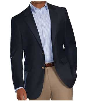 Signature Collection Traditional Fit Blazer (Big & Tall, Navy)
