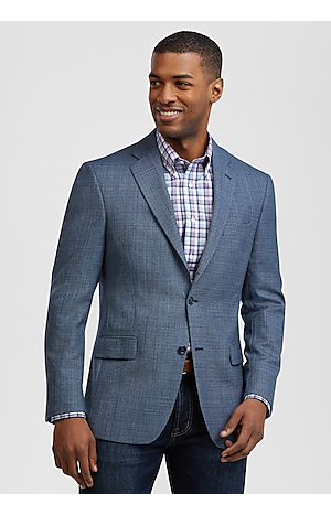 Traveler Collection Men's Traditional Fit Textured Sportcoat