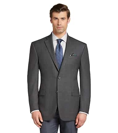 2410877cf Executive Collection Traditional Fit Windowpane Plaid Sportcoat CLEARANCE  #11JU