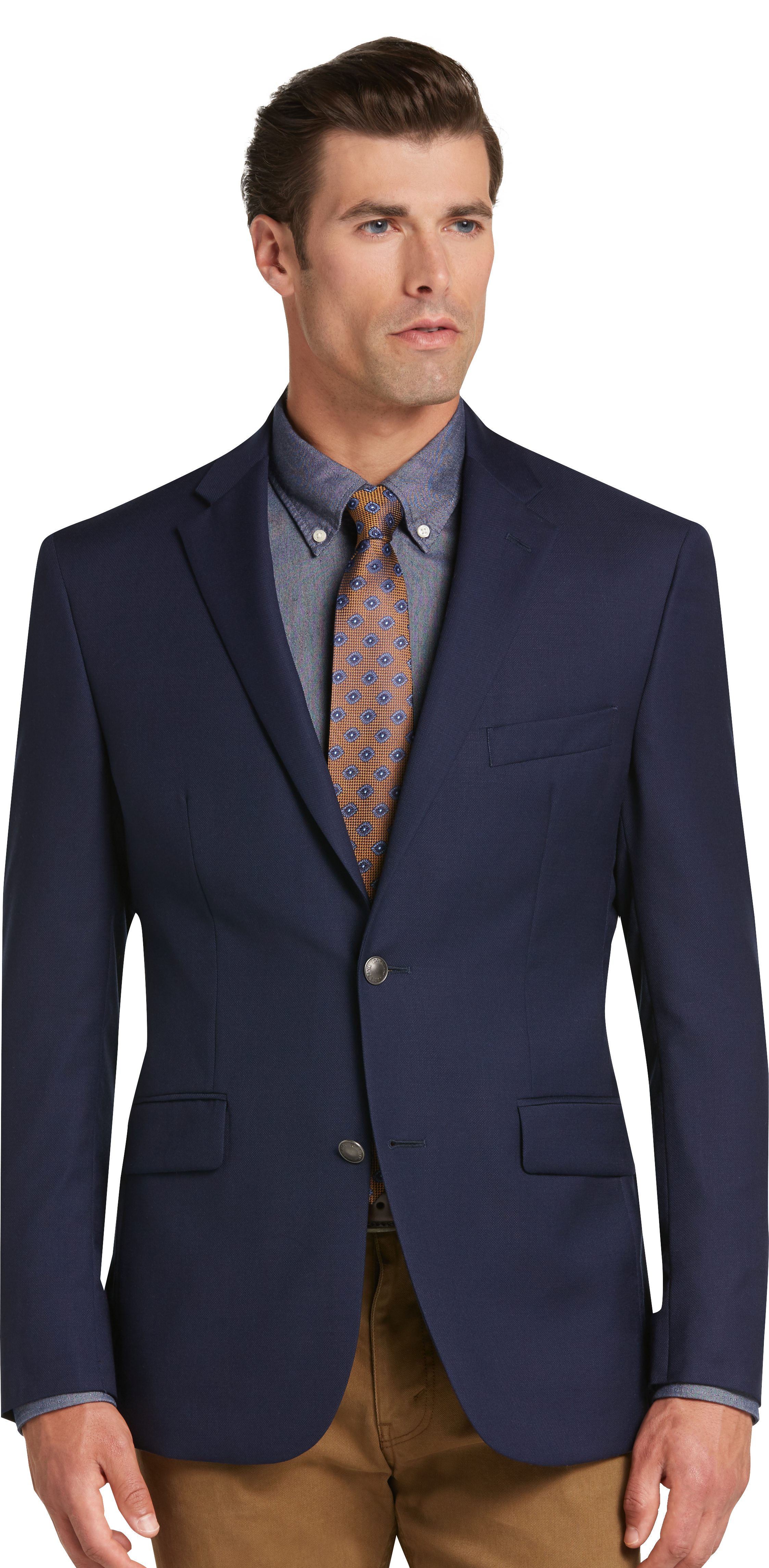 Traveler Collection Tailored Fit Utility Sportcoat (Bright Navy / Navy)