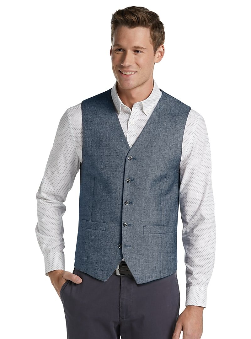Jos. A. Bank Men's 1905 Collection Tailored Fit Twill Vest