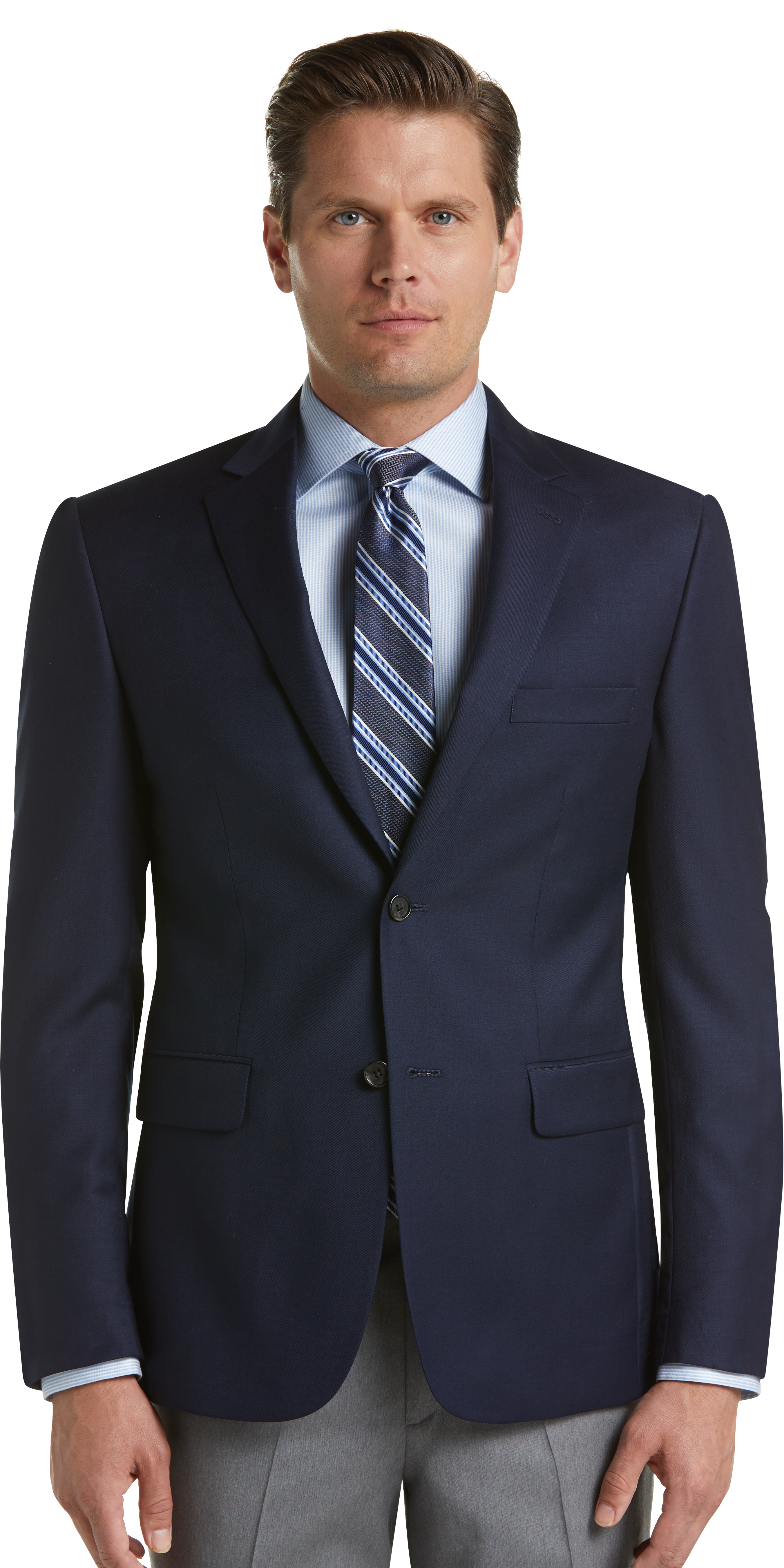 Signature Collection Tailored Fit Blazer (Bright Navy)