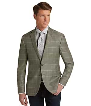 1905 Collection Slim Fit Windowpane Sportcoat