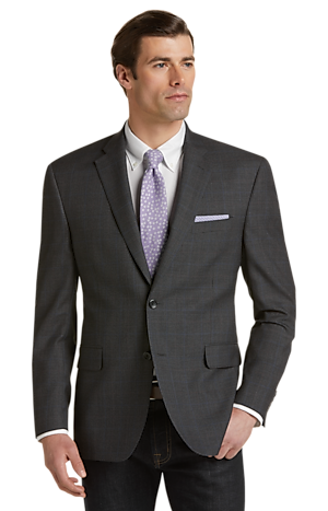 Men's FLYOUT_CATEGORY, Executive Collection Traditional Fit Mini Houndstooth Sportcoat - Big & Tall - Jos A Bank