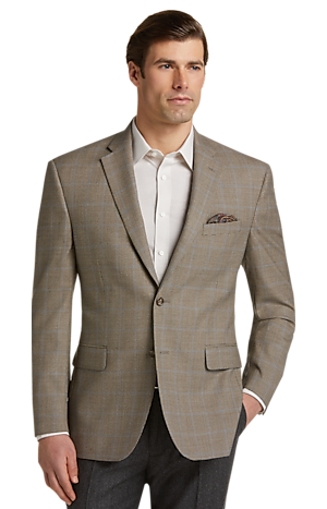 Men's SportCoats, Executive Collection Traditional Fit Houndstooth Windowpane Sportcoat - Jos A Bank