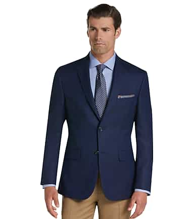 d79ac7bf15a Executive Collection Tailored Fit Herringbone Sportcoat