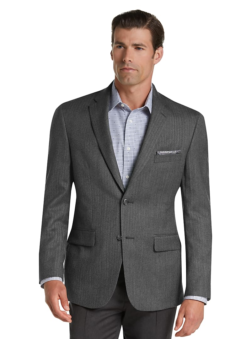 Jos. A. Bank Men's Executive Collection Royal Fit Herringbone Sportcoat