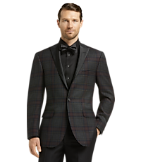 Jos. A. Bank Tailored Fit Plaid Jacket