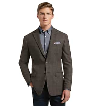 1905 Collection Tailored Fit Melange Sportcoat with brrr comfort