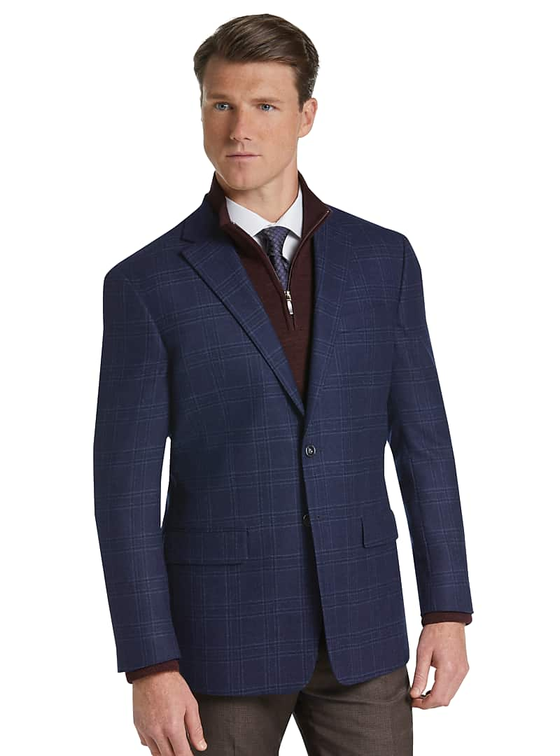 1905 Collection Tailored Fit Plaid Sportcoat with brrr