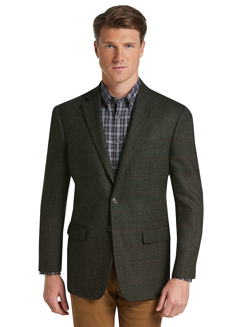 Jos. A. Bank 1905 Collection Tailored Fit Windowpane Sportcoat