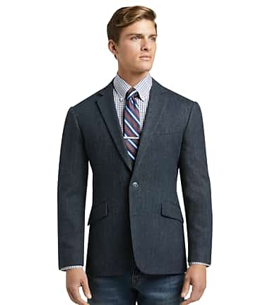 1905 Collection Slim Fit Herringbone Sportcoat with brrr° comfort CLEARANCE