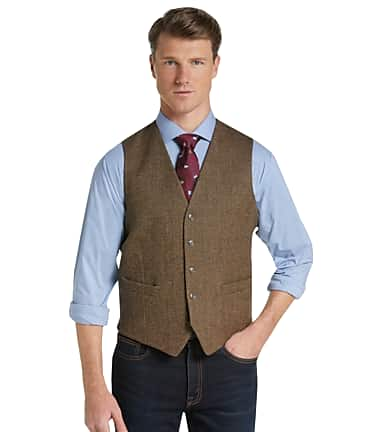 9e6710ecef 1905 Collection Tailored Fit Herringbone Vest CLEARANCE - All ...