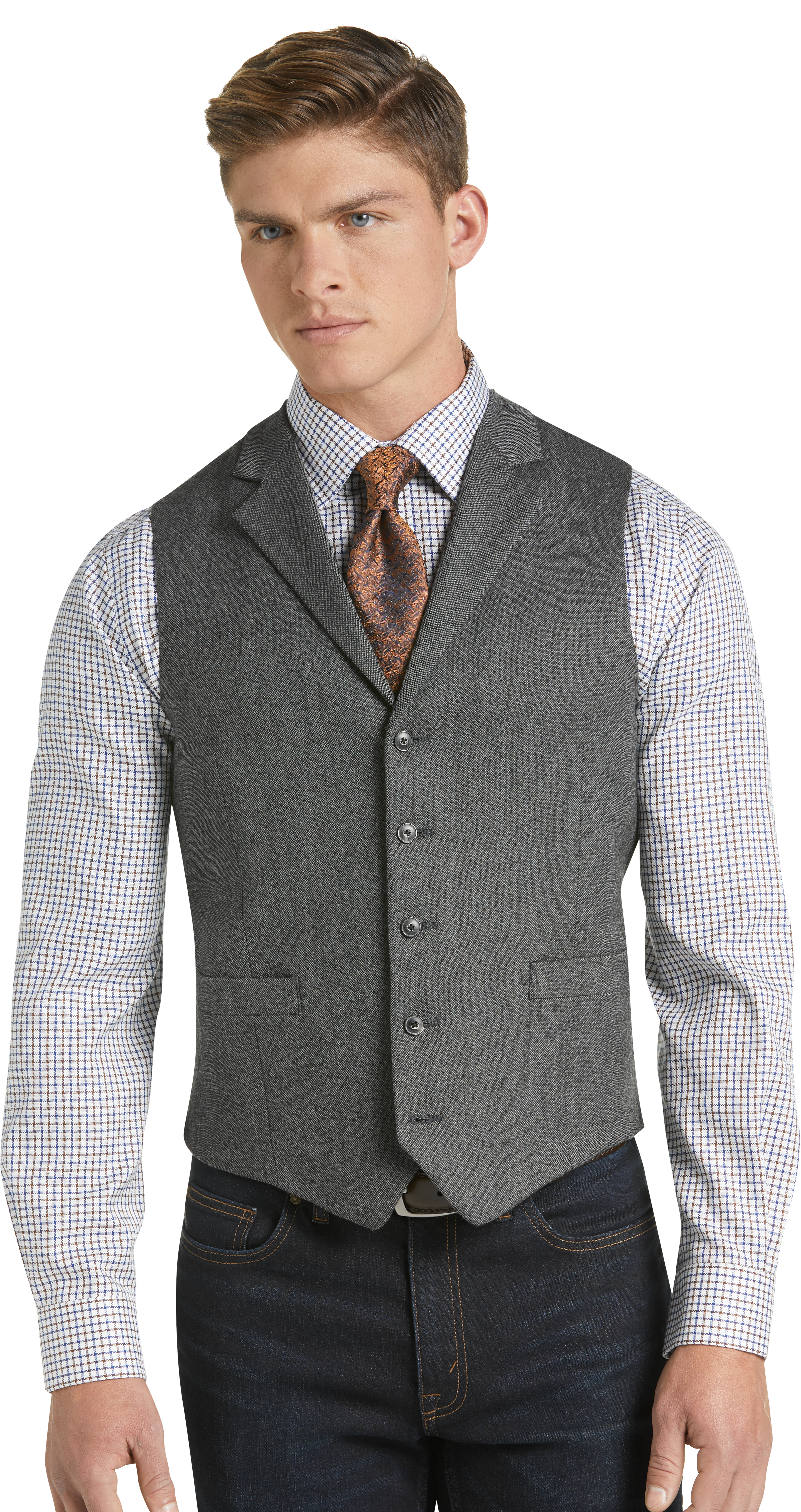 b69f2c01 1905 Collection Tailored Fit Donegal Vest - Big & Tall CLEARANCE