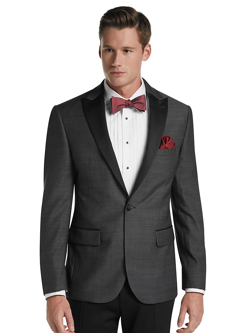 Jos. A. Bank Tailored Fit Birdseye Peak Dinner Jacket