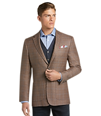ced7fe04 Men's SportCoats, 1905 Collection Tailored Fit Windowpane Plaid Sportcoat  with brrr° comfort - Jos