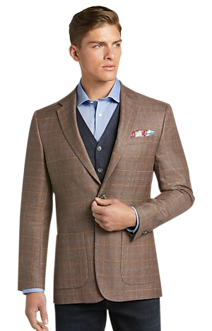 Men's Clearance, 1905 Collection Tailored Fit Windowpane Plaid Sportcoat with brrr° comfort CLEARANCE - Jos A Bank