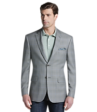 Reserve Collection Tailored Fit Plaid Sportcoat