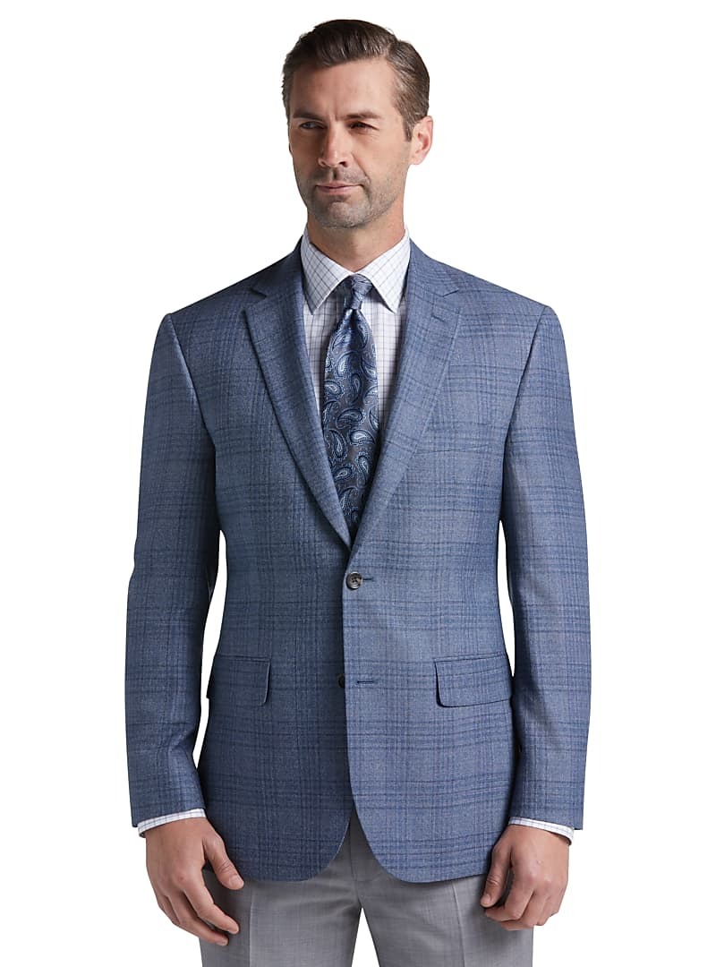 Reserve Collection Tailored Fit Glen Plaid Sportcoat