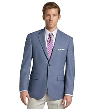 Traveler Collection Tailored Fit Mini Check Sportcoat