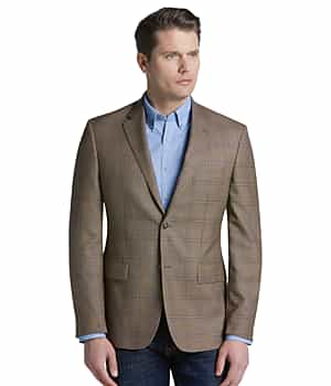 Traveler Collection Tailored Fit Windowpane Sportcoat