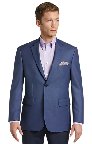 Men's Clearance, Traveler Collection Tailored Fit Mini Check Sportcoat CLEARANCE - Jos A Bank