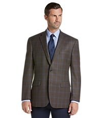 Traveler Collection Traditional Fit Windowpane Sportcoat