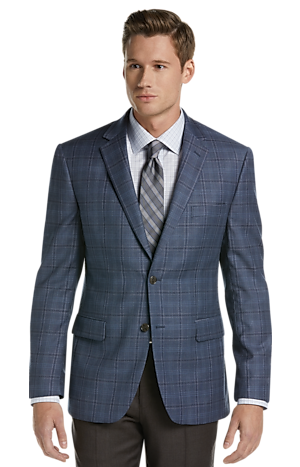Men's Sale, Traveler Collection Traditional Fit Plaid Sportcoat - Jos A Bank