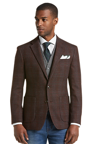 Men's Clearance, 1905 Collection Slim Fit Plaid Sportcoat with brrr° comfort CLEARANCE - Jos A Bank
