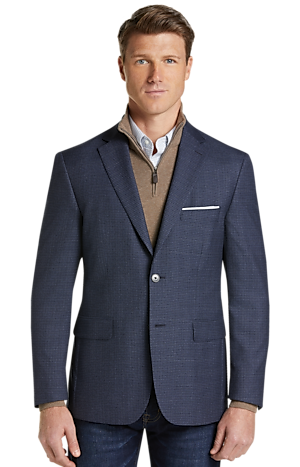 Men's Sale, Traveler Collection Tailored Fit Check Sportcoat - Big & Tall - Jos A Bank