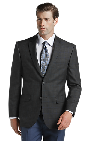 Men's Clearance, Reserve Collection Tailored Fit Windowpane Sportcoat CLEARANCE - Jos A Bank