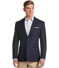 Men's SportCoats, 1905 Collection Tailored Fit Windowpane Sportcoat with brrr° comfort - Jos A Bank