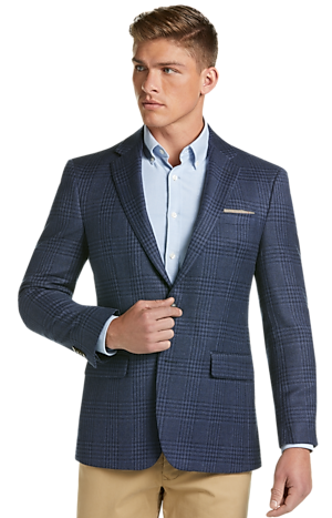 Men's Clearance, 1905 Collection Slim Fit Plaid Sportcoat with brrr°? comfort - Big & Tall CLEARANCE - Jos A Bank