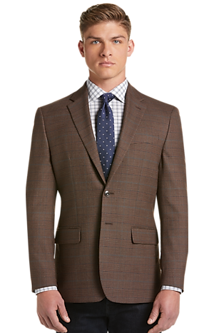 Men's Clearance, 1905 Collection Tailored Fit Glen Plaid Sportcoat with brrr°? comfort CLEARANCE - Jos A Bank