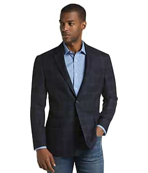 1905 Collection Tailored Fit Windowpane Sportcoat with brrr comfort