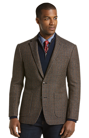Men's Clearance, 1905 Collection Slim Fit Houndstooth Plaid Sportcoat with brrr°? comfort CLEARANCE - Jos A Bank