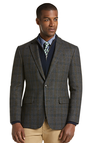 Men's Clearance, 1905 Collection Slim Fit Glen Plaid Sportcoat with brrr° comfort CLEARANCE - Jos A Bank