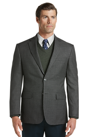 Traveler Collection Tailored Fit Houndstooth Check Sportcoat