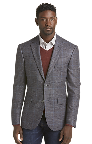 Men's Clearance, Reserve Collection Tailored Fit Plaid Sportcoat CLEARANCE - Jos A Bank