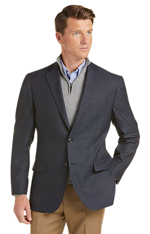 Men's SportCoats, Executive Collection Traditional Fit Check Sportcoat - Jos A Bank