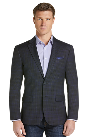 Men's SportCoats, Travel Tech Collection Slim Fit Check Sportcoat - Jos A Bank