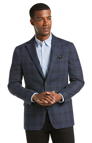 Men's SportCoats, 1905 Collection Tailored Fit Glen Plaid Sportcoat - Jos A Bank