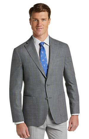 Men's SportCoats, 1905 Collection Slim Fit Windowpane Plaid Sportcoat - Jos A Bank