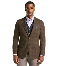 Men's SportCoats, 1905 Collection Tailored Fit Plaid Sportcoat - Jos A Bank