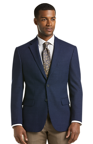 Men's SportCoats, Travel Tech Collection Tailored Fit Check Sportcoat - Jos A Bank