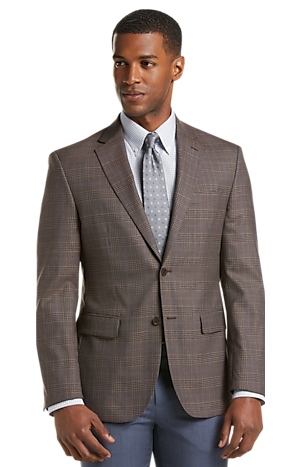 Men's Sale, Traveler Collection Tailored Fit Plaid Sportcoat - Jos A Bank