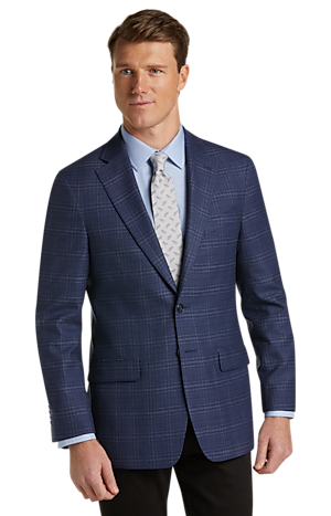 Men's SportCoats, 1905 Collection Tailored Fit Plaid Sportcoat with brrr° comfort - Jos A Bank