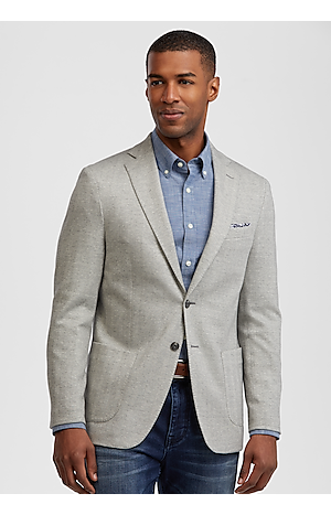 1905 Collection Tailored Fit Herringbone Sportcoat with brrr°? comfort