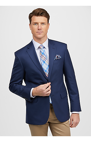 Men's SportCoats, Traveler Collection Tailored Fit Small Check Sportcoat - Jos A Bank