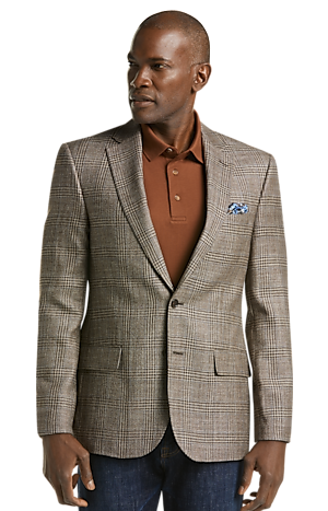 Men's SportCoats, Reserve Collection Tailored Fit Plaid Sportcoat - Jos A Bank